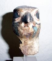 Falkenkopf (Mumie), Kartonage, bemalt