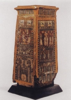 Kanopenkasten mit Originalbemalung; Ägyptisches Museum Bonn