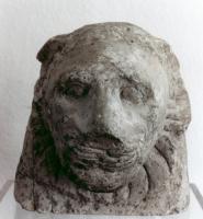 Löwenkopf, Kalkstein, Ägypten, römische Zeit