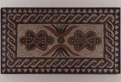Römisches Mosaik des 2.-3- Jh. n. Chr., Portugal, wohl Türschwelle einer römischen Villa (Prof. Hellenkemper)